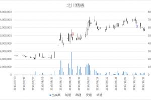 増担保規制日足チャート北川精機(6327)-20160826-20161014