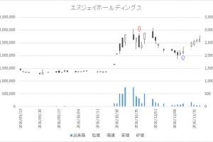 増担保規制日足チャートエヌジェイホールディングス(9421)-20161026-20161111