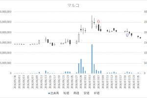 増担保規制日足チャートマルコ(9980)-20160707-20160720